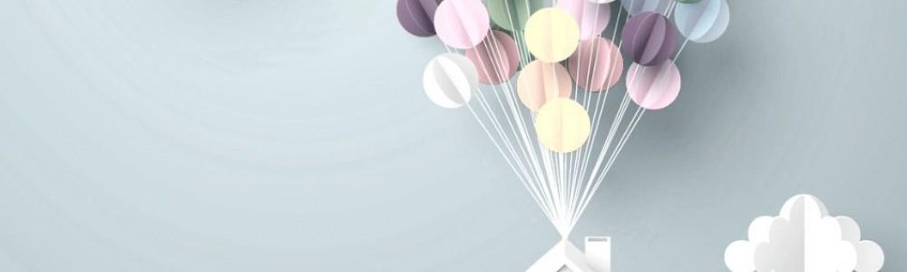 Domek z balonami